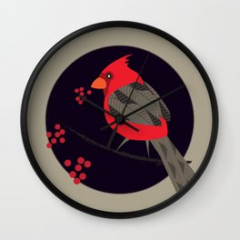 Cardinal Song Wall Clock