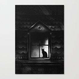 Neighbor's Cat Has A Secret Canvas Print