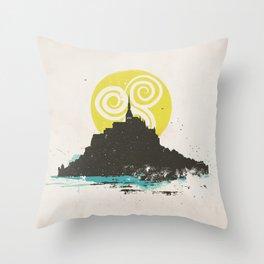 Le Mont Saint Michel (Saint Michael's Mount), Normandy, France Throw Pillow