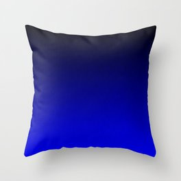 Midnight Black to blue ombre flame gradient Throw Pillow