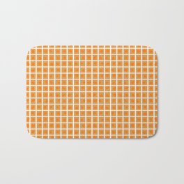 Boxed Dots Orange on Gold Bath Mat