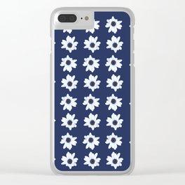 Good Night, Sleepy African Daisy Flower Clear iPhone Case