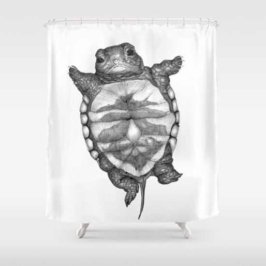 Little Turtle Shower Curtain