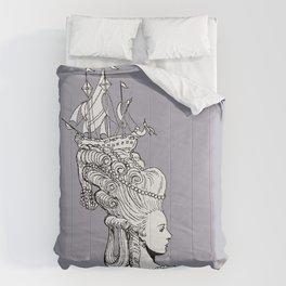Girl With Ship Comforters