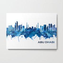 Abu Dhabi UAE Skyline Blue Metal Print