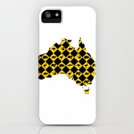 Australian Animals Road Signs Map iPhone Case