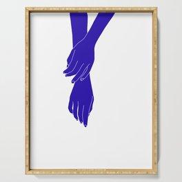 Colour block hands illustration - Effie Serving Tray