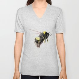 Bumblebee, bee art, bee design Unisex V-Neck