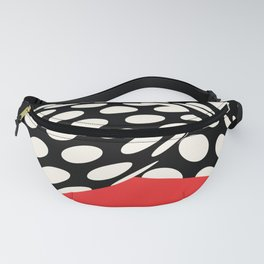 Wavy Dots on Red Fanny Pack