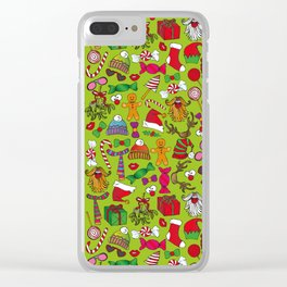 ChristmasMotif Clear iPhone Case
