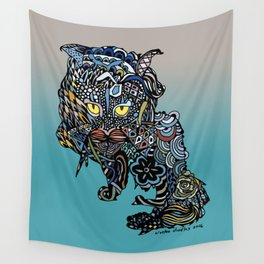 Dragon Cat (Color) Wall Tapestry