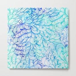 Gradient Floral Pattern 24 Metal Print