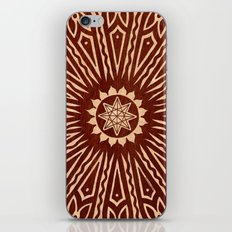 ozorahmi wood mandala iPhone & iPod Skin