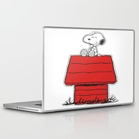 snoopy Laptop & iPad Skins featuring Snoopy by Simple Touch Apparel