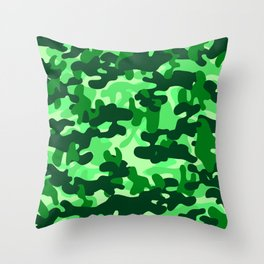 Camouflage (Green) Throw Pillow