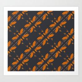 Orange chamomiles Art Print