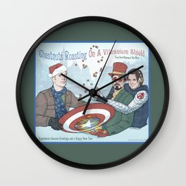 Superheroic Seasons Greetings (Chestnuts Roasting) Wall Clock