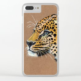 Leopard glance Clear iPhone Case