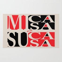 Mi Casa es Su Casa (my home is your home) Red Black Rug