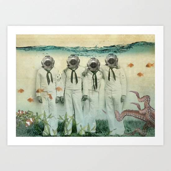 octopuses garden Art Print