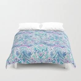UNICORN DAYDREAMS Mythical Watercolor Tapestry Duvet Cover