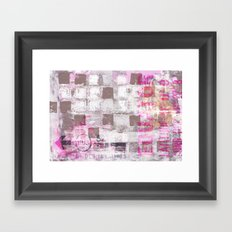 Abstract grunge Squares pating with typography Framed Art Print