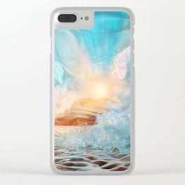 The evening wave Clear iPhone Case