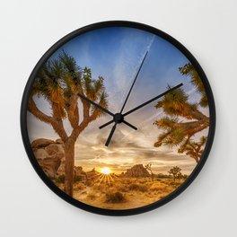 Gorgeous Sunset at Joshua Tree National Park Wall Clock