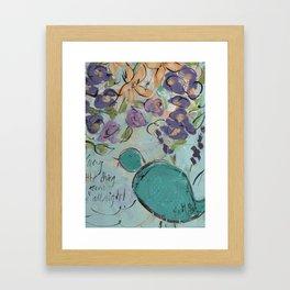 One blue bird Framed Art Print