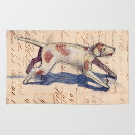 Metal Dog from France Rug