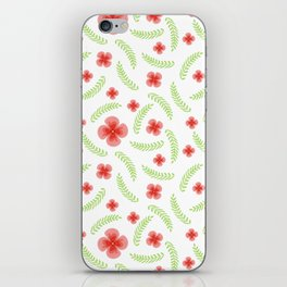 Happy floral pattern iPhone Skin