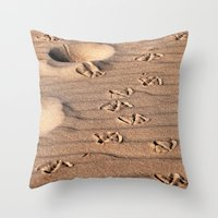 dune Throw Pillows featuring SAND DUNE  by CAPTAINSILVA