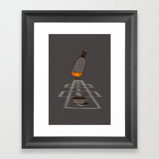 Hop Scotch Framed Art Print