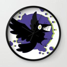 bubble fishcrow Wall Clock