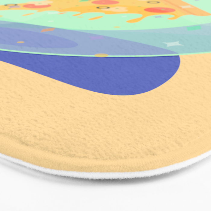 The Future is Pizza Bath Mat
