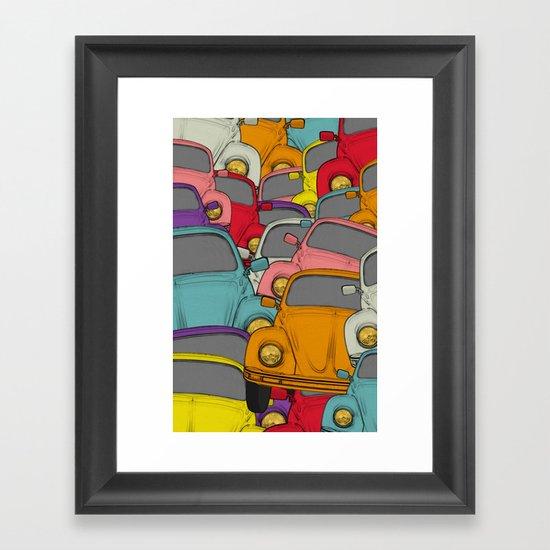 classic beetle Framed Art Print