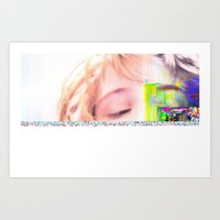 glitch Art Prints featuring GLITCH by Lil Ashton