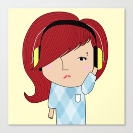 Mss Musical Canvas Print