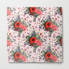 wild flowers pattern Metal Print