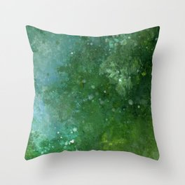 Emeralds Throw Pillow
