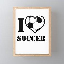I Love Soccer Framed Mini Art Print