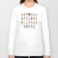 video games Long Sleeve T-shirts featuring Video Games Pixel Alphabet by PixelPower