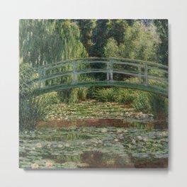 Claude Monet - Japanese Footbridge Metal Print