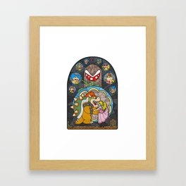 Beauty and the Bowser Framed Art Print