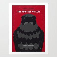No780 My The Maltese Falcon minimal movie poster Art Print