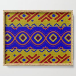 Ethnic African Knitted style design Serving Tray