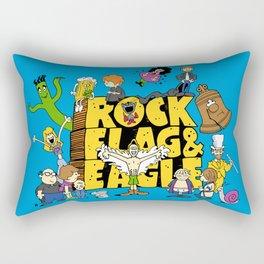 Rock, Flag & Eagle Rectangular Pillow