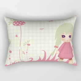 Kiwi Doll 'Mon jardin secret' Rectangular Pillow