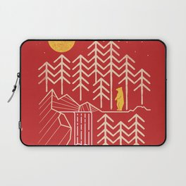 Sunlands - Bear T-Shirt, Bear, Nature, Geometric, Waterfall, Hiking gift, Walking, outdoors Laptop Sleeve