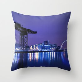 The River Clyde At Night Throw Pillow